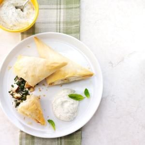 Chicken & Mushroom Spanakopitas Recipe