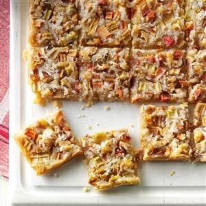 Rhubarb Dream Bars Recipe