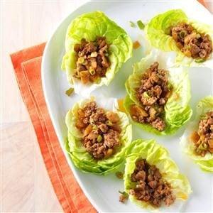 Ginger Pork Lettuce Wraps Recipe