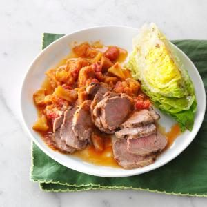 Pork Tenderloin with Sweet Potato Ragout Recipe