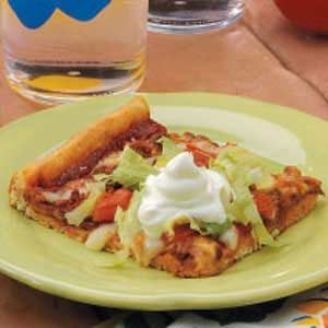 Taco Pizza Squares Recipe