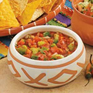 Crunchy Garden Salsa Recipe