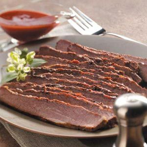 Slow-Cooked Barbecued Beef Brisket Recipe