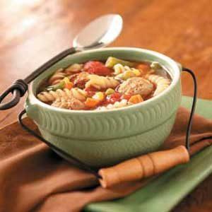 Veggie Meatball Soup Recipe