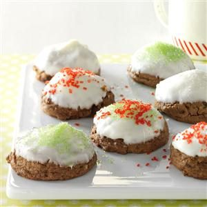 Snow-Capped Mocha Fudge Drops Recipe