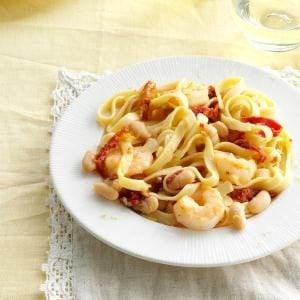 Lemon-Shrimp Fettuccine Recipe