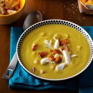 Split Pea Soup with Bacon & Crab