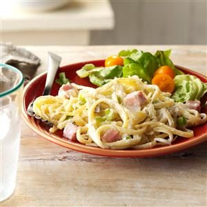 Linguine with Ham & Swiss Cheese Recipe