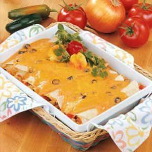 Beef 'n' Bean Enchiladas Recipe