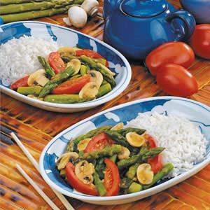 Asparagus Tomato Stir-Fry Recipe