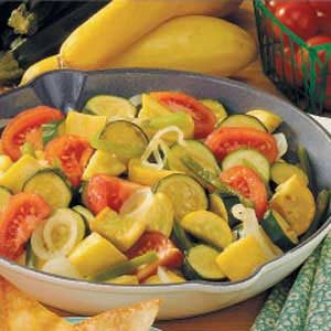 Gingered Squash Saute Recipe