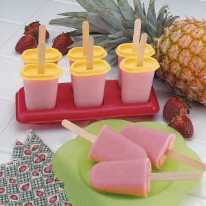 Fruity Yogurt Ice Pops Recipe