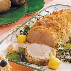 Pork loin crusted recipe