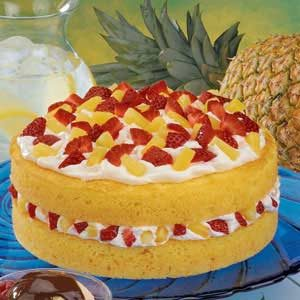 Fruit-Filled Orange Cake Recipe