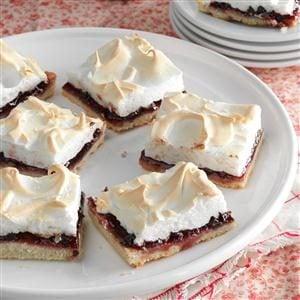 Raspberry-Chocolate Meringue Squares Recipe