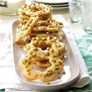 Pistachio-Walnut Cookies Recipe