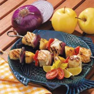 Apple Halibut Kabobs Recipe