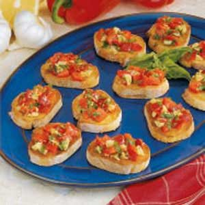 Red Pepper Bruschetta