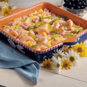 Pineapple Shrimp Rice Bake