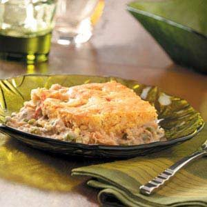 Corn Bread-Topped Salmon Recipe