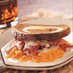 Rye Bread-Topped Reuben Casserole Recipe photo by Taste of Home