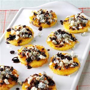 Gorgonzola Polenta Bites Recipe