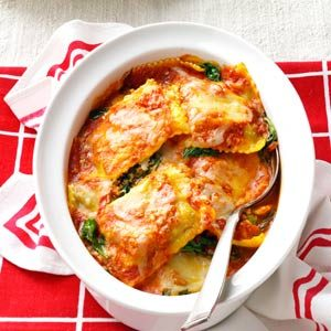 Spinach Ravioli Bake Recipe