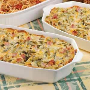 Ham and Asparagus Spaghetti Casserole Recipe