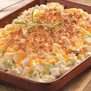 Cheesy Hot Chicken Salad Recipe