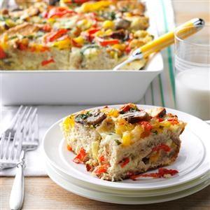Basil Vegetable Strata Recipe