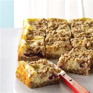 Cranberry Eggnog Cheesecake Bars