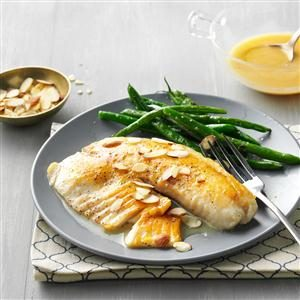 Lemon-Butter Tilapia with Almonds Recipe