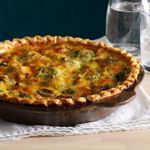 Mushroom Broccoli Quiche Recipe