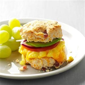 Cheesy Ham & Egg Sandwiches Recipe