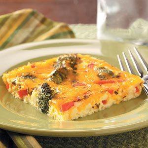 Veggie Cheese Squares Recipe
