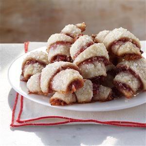 Raspberry-Almond Crescent Cookies Recipe