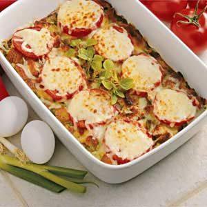 Tomato Mozzarella Bake Recipe