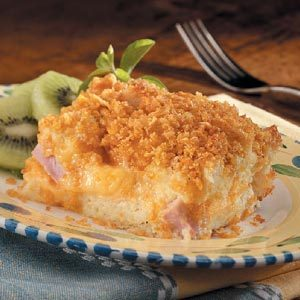 Double-Cheese Ham Souffle Recipe