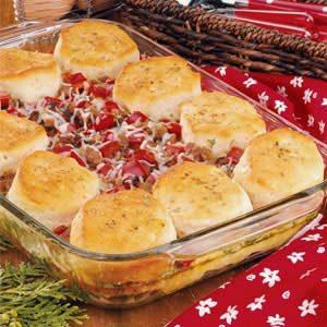 Italian Sausage Biscuit Bake Recipe