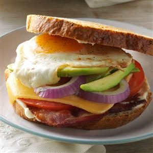 Bacon, Egg & Avocado Sandwiches Recipe