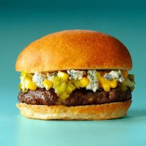 Corn & Blue Burgers Recipe