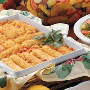 Spanish Corn with Fish Sticks Recipe