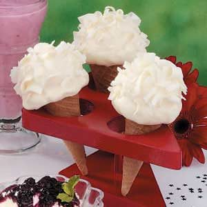 White Chocolate Cones