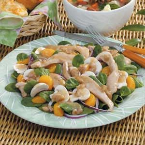Warm Chicken Spinach Salad Recipe