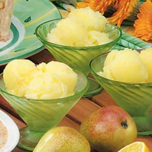 Gingered Pear Sorbet Recipe