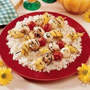 Vegetable Kabobs with Rice Recipe