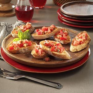 Garlic Tomato Bruschetta Recipe