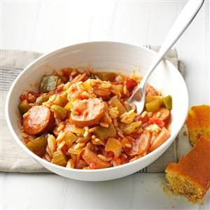 Shortcut Sausage Jambalaya Recipe