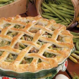 Green Bean Mushroom Pie Recipe