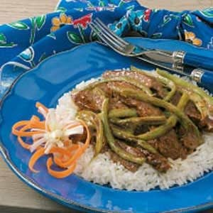 Stir-Fried Beef 'n' Beans Recipe